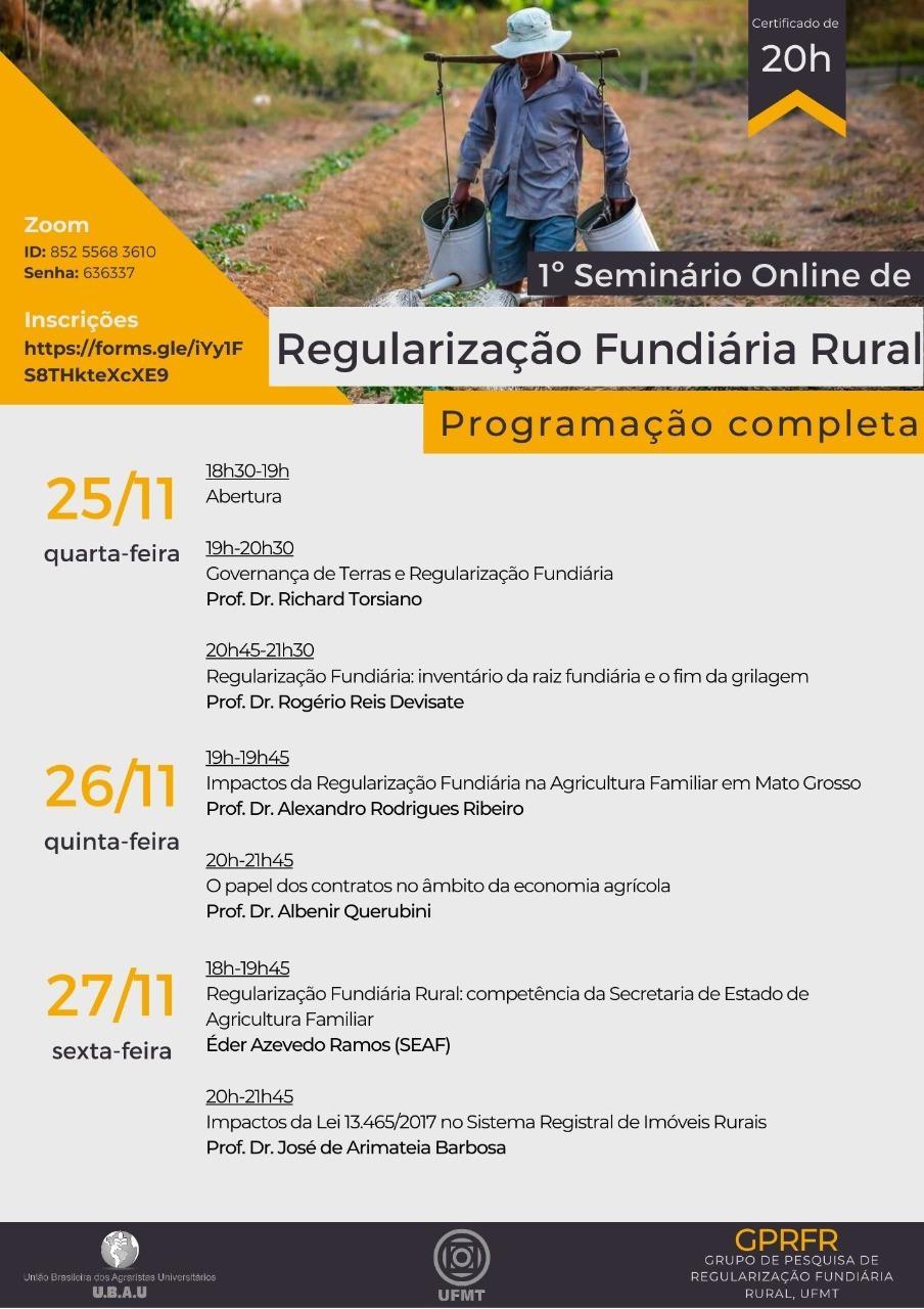 Consultor internacional abre ciclo de palestras  em evento da UFMT sobre regularização fundiária